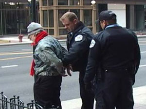 Photo of man being arrested