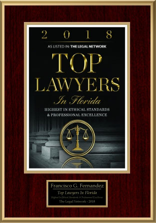 2018 Top Lawyers in Florida Award
