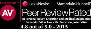 AV Preeminent Peer Review 4.8 of 5 rating