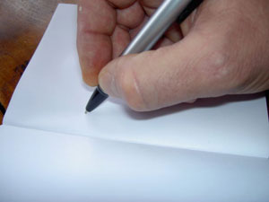 writing a statement on paper